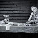 Cheese stall, market, Ballinskelligs